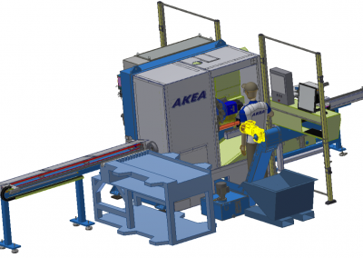 "Akea Special Lathe: high volume and high speed turning of bars for ""large"" bolts,"