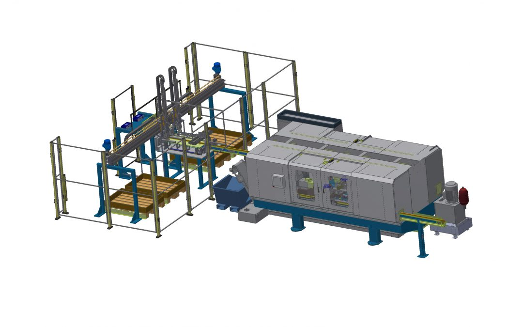 DEM Series: Pin bolt Center Fully automatic double end machine for high volume Pin bolt production