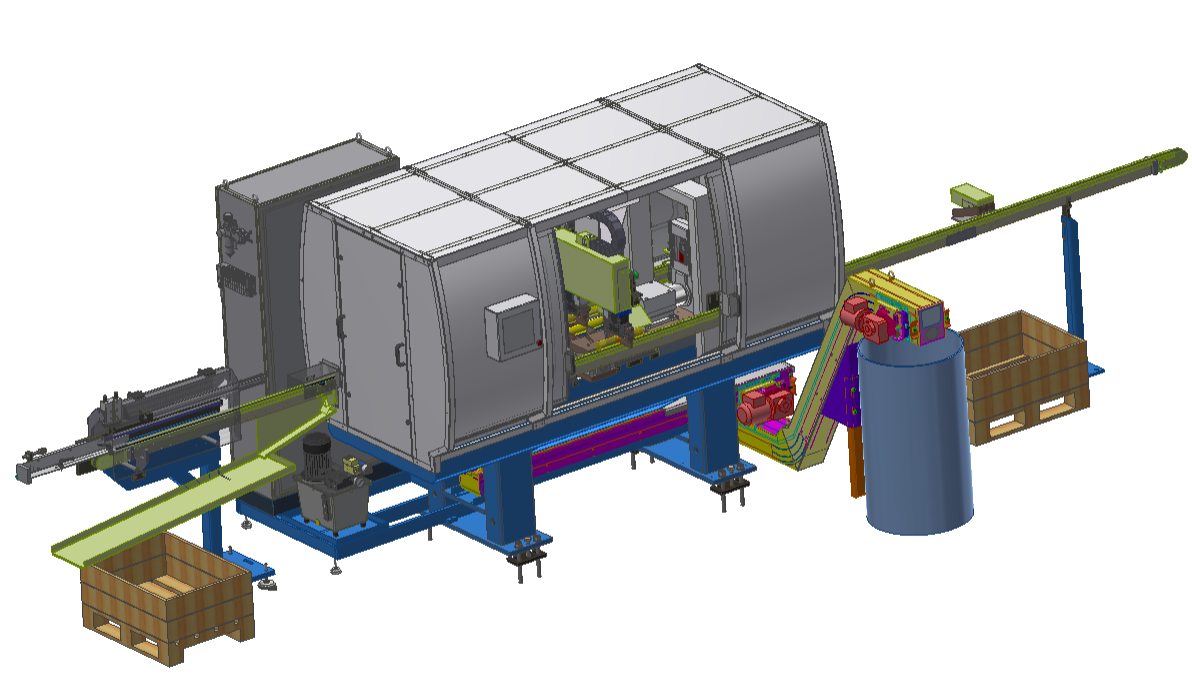 DEM Series: Fully automatic Double End Machining for bar and tube materials