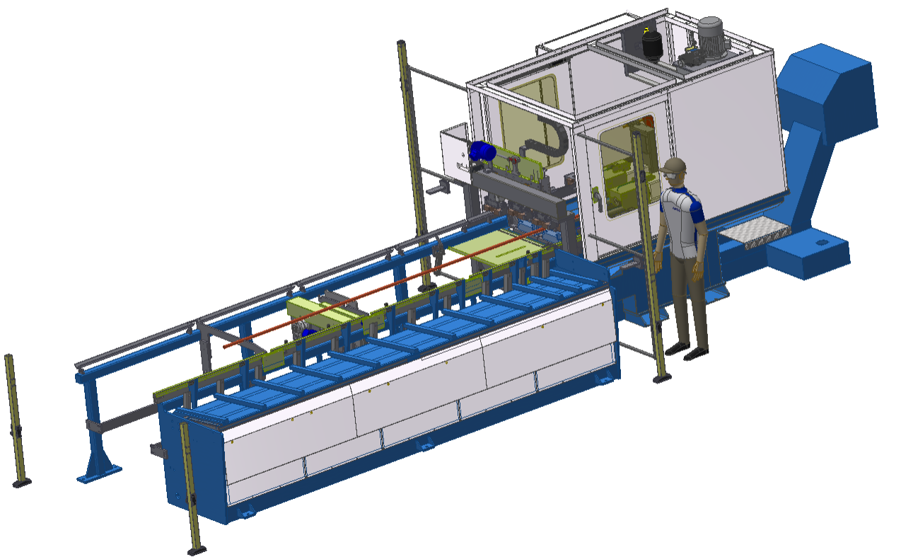 GA Series: Fully automatic thread rolling machine for rebar and bar material